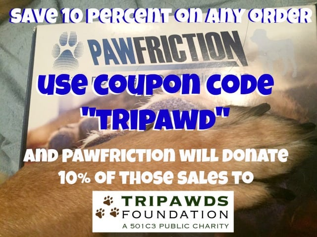 pawfriction discount for tripawds
