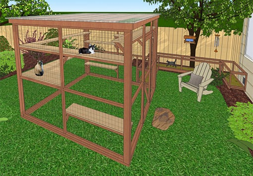 DIY Catio Plans for Tripawds