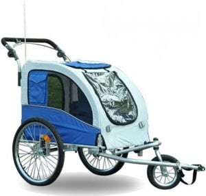 aosom dog stroller trailer