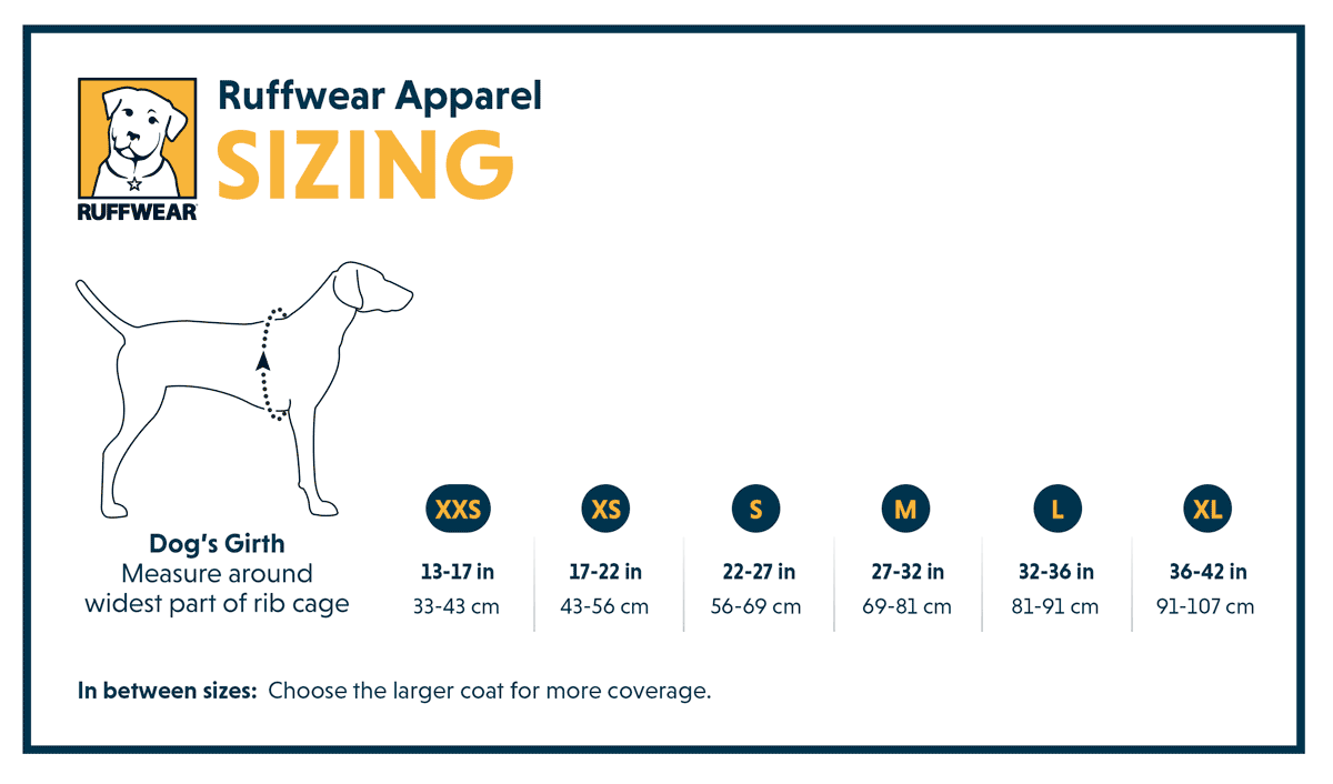 Ruffwear Apparel Sizing