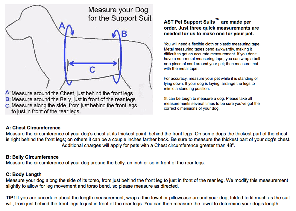 Tripawds Gear » Custom Dog Mobility Harness Measuring Tips