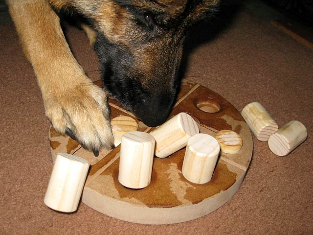 Wooden Pizza Puzzle Interactive Dog Game
