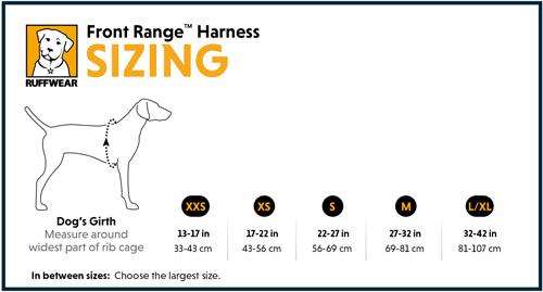 Ruffwear Front Range Harness Sizing