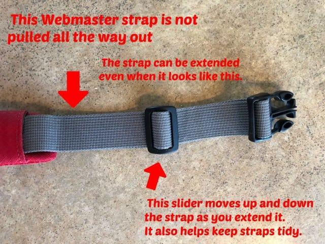 Lengthen Webmaster Harness Strap