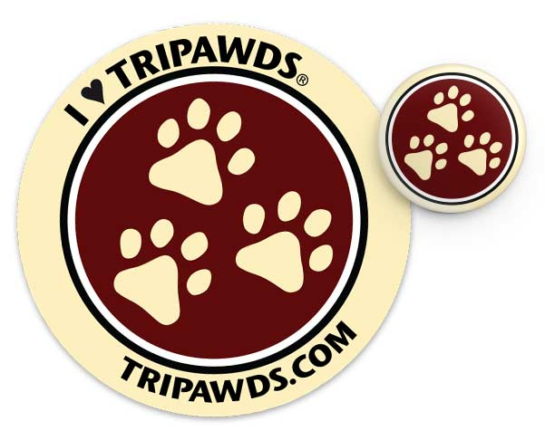 I Love Tripawds Sticker and Button