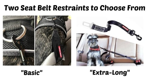 dog seat belt restraint