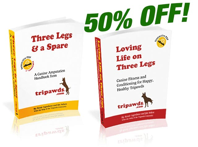 Tripawd dog information books