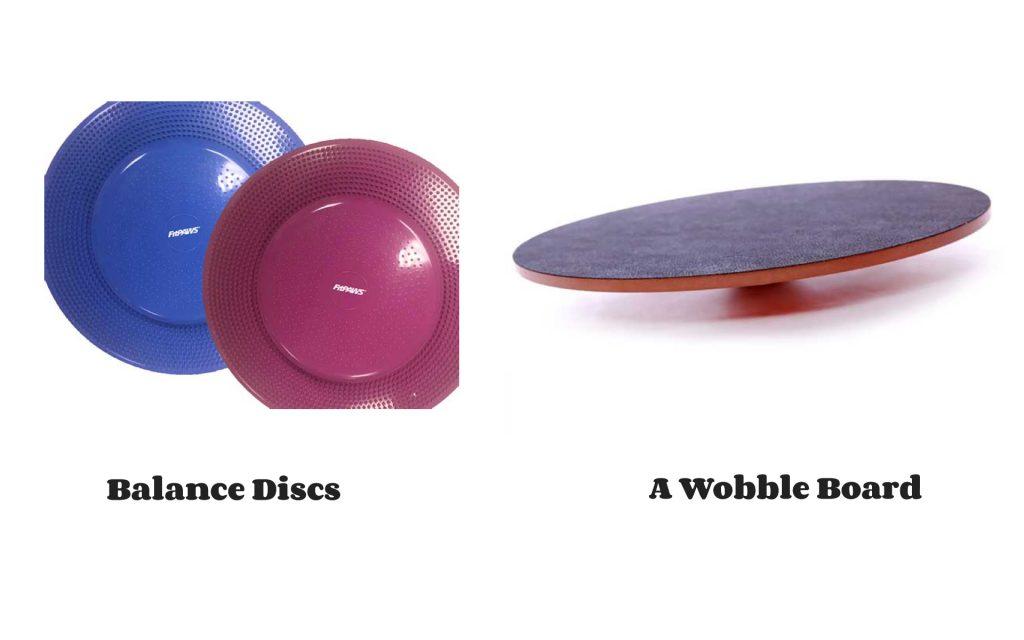 Balance Disc versus Wobble Board