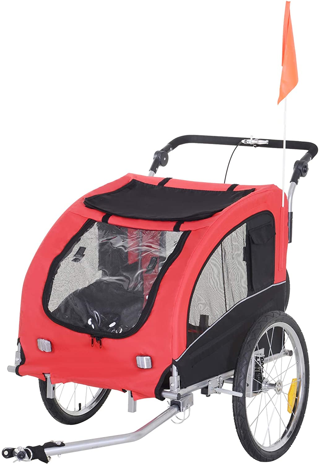 Tripawd dog stroller with suspension