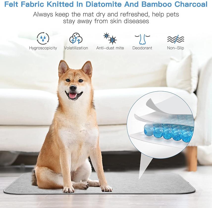 anti-moisture self-cooling dog mat